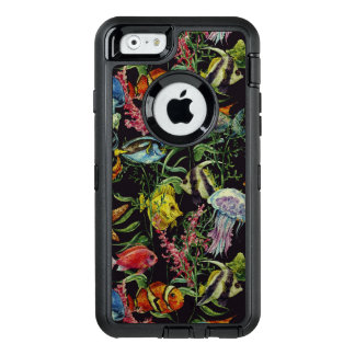 Watercolor Sea Life Pattern 1 OtterBox Defender iPhone Case