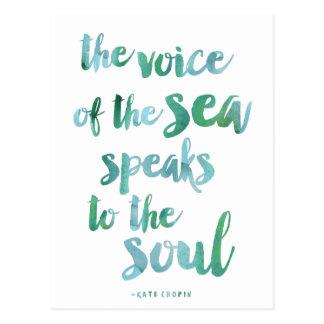 Watercolor Sea Quote Postcard