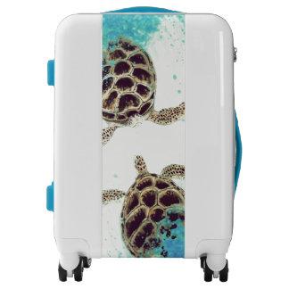 Watercolor Sea Turtle Love Designer Luggage