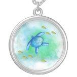 Watercolor Sea Turtle Necklace
