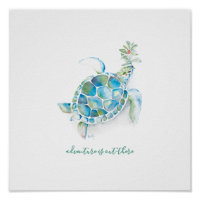 Watercolor Sea Turtle Nursery Wall Art