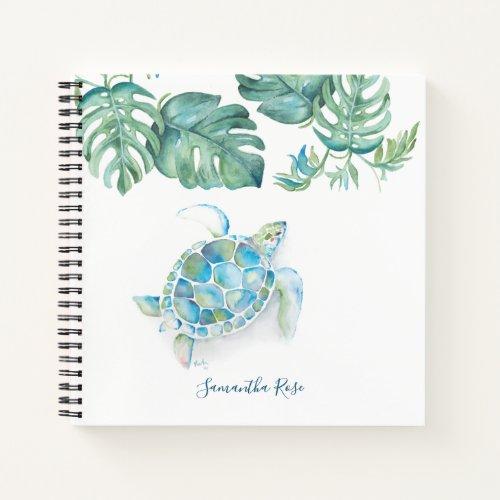 Watercolor Sea Turtle Personalized Journal