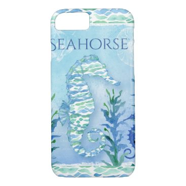 Beach Themed Watercolor Seahorse Ocean Sea Modern Beach Art iPhone 7 Case
