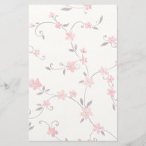 Watercolor seamless pattern with styled spring