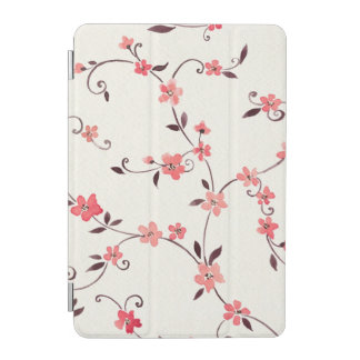 Watercolor seamless pattern with styled spring iPad mini cover