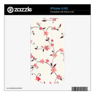 Watercolor seamless pattern with styled spring skins for the iPhone 4