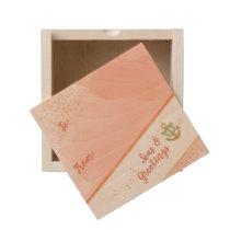 Watercolor Seas & Greetings Anchor & Stars Coral Wooden Keepsake Box