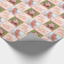 Watercolor Seas & Greetings Anchor & Stars PHOTO Wrapping Paper
