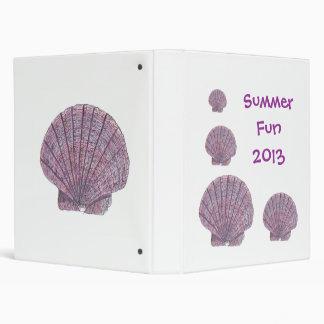 Watercolor Seashell Binder