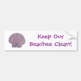 Watercolor Seashell Bumper Sticker