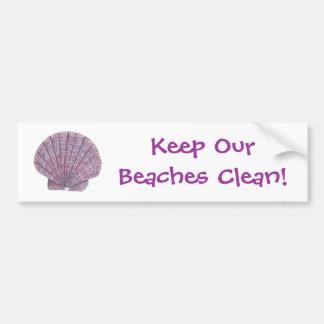 Watercolor Seashell Bumper Sticker