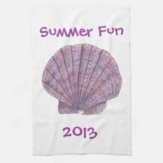 Watercolor Seashell Kitchen Towel