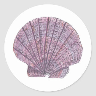Watercolor Seashell Stickers