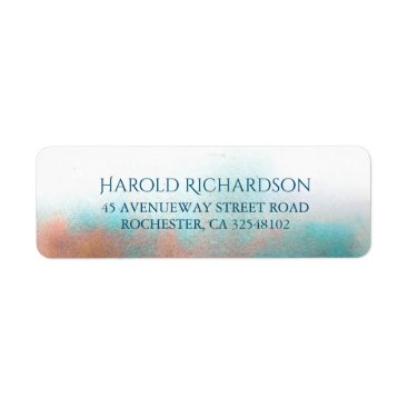 Beach Themed Watercolor Shades Modern Wedding Label