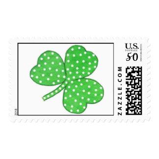Watercolor Shamrock Polka Dot Stamp