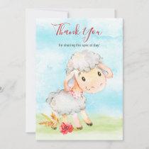 Watercolor Sheep Farm Thank You