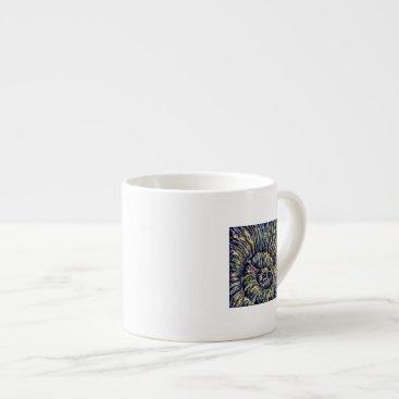 Beach Themed Watercolor Shell Espresso Mug