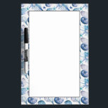 "Watercolor Shells Dry-Erase Board<br><div class=""desc"">Beautiful watercolor vector pattern with corals shells and crabs 