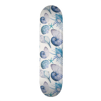 Watercolor Shells Skateboard