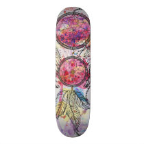 "Watercolor sketch Dreamcatcher ""Chase your Dreams"" Skateboard"