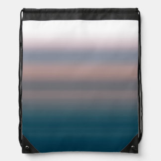 Watercolor Sky Pink and Blue Ombre Background Drawstring Bag