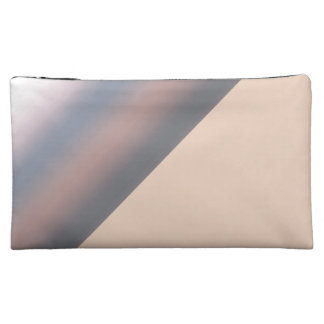 Watercolor Sky Pink Blue Ombre with Peach Cosmetic Bag