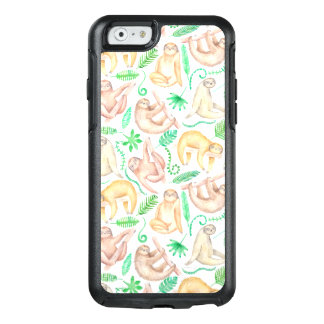 Watercolor Sloth Pattern OtterBox iPhone 6/6s Case