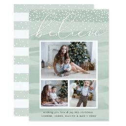 Watercolor Snowfall | Holiday Photo Collage Card