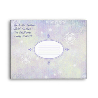 Watercolor Snowflake Christma - Customize Envelopes