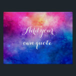 "Watercolor Space Custom Quote Poster<br><div class=""desc"">Add your own text to this pretty watercolor painting of space.</div>"