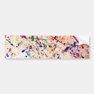 Watercolor Spatter Bumper Sticker