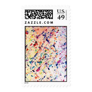 Watercolor Spatter postage stamp Stamps