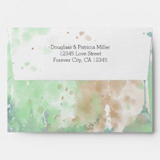 Watercolor Splash Envelope