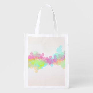 Watercolor Splatter Colorful Abstract Design Reusable Grocery Bags