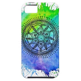 Watercolor Splatter Mandala Vibe iPhone 5 Case.