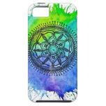 Watercolor Splatter Mandala Vibe iPhone 5 Case. iPhone 5 Covers