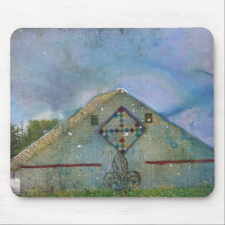 Watercolor Splattered Barn Mouse Pad