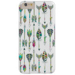 watercolor splatters grey tribal arrows pattern barely there iPhone 6 plus case