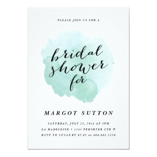 Watercolor spotlight | Bridal Shower Invitation