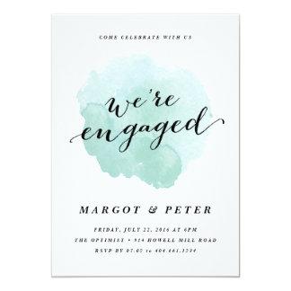 Watercolor spotlight | Engagement Party Invitation
