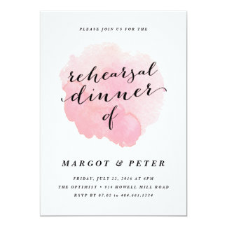Watercolor spotlight | Rehearsal Dinner Invitation