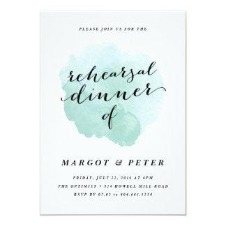 Watercolor spotlight | Rehearsal Dinner Invitation