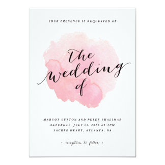 Watercolor spotlight | Wedding Invitation