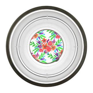 Watercolor Spring Floral Blooms Bowl