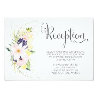 Watercolor Spring Floral Wedding Reception Cards