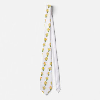 Watercolor Spring flower daffodils Neck Tie