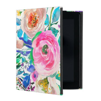 Watercolor Spring Flowers iPad Covers