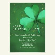 Watercolor St. Patrick's Day Invitation