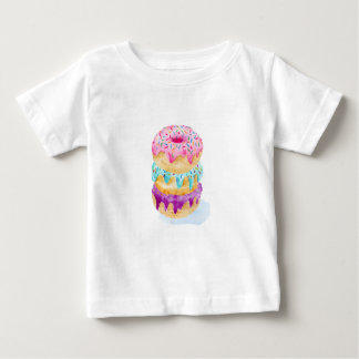 Watercolor stack of donuts baby T-Shirt