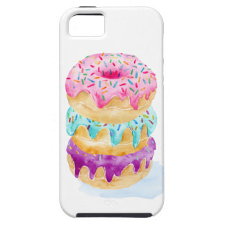Watercolor stack of donuts iPhone SE/5/5s case